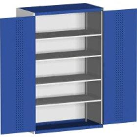 Armário com 2x portas de abrir e com 4x Prateleiras - L 1300 x P 650 x 2000 mm