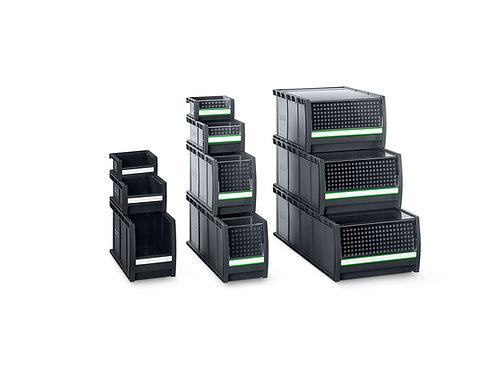 Pack de 9x Caixas bottBox M2 - Para prateleira com Larg. 1275 x Prof. 240 mm