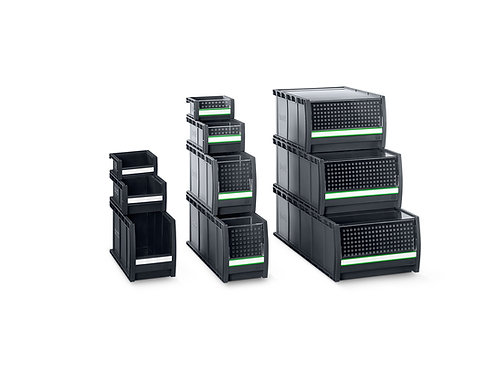 Pack de 6x Caixas bottBox - 1x M4, 5x L4 - Prateleira Larg. 1525 x Prof. 440 mm