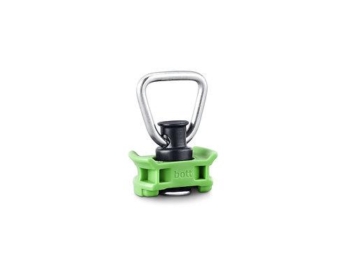 Ponto de fixação individual sem cinta - Cor verde - 43 x 26 x 65 mm