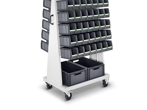 Carro de transporte - 70 caixas botBox M3 + 2 caixas - 1000 x 650 x 1600 mm