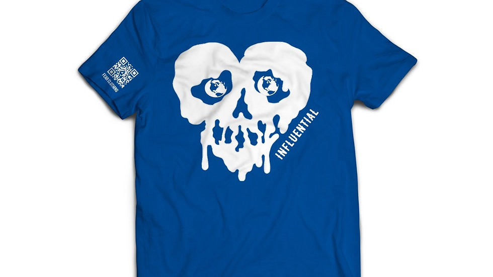 Unisex Royal Blue/White Influential tee