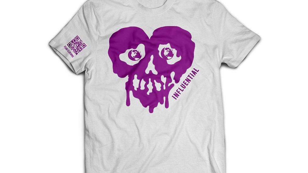 Unisex White/Purple Influential Tee