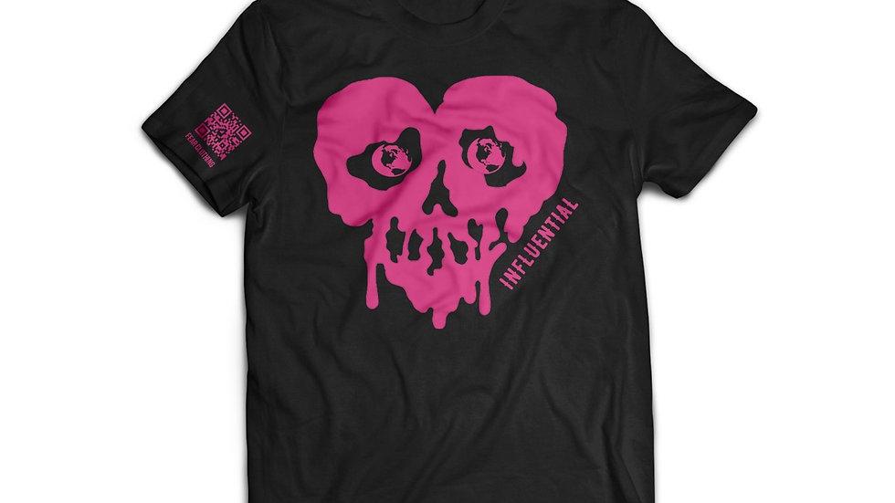 Unisex Black/Pink Influential Tee