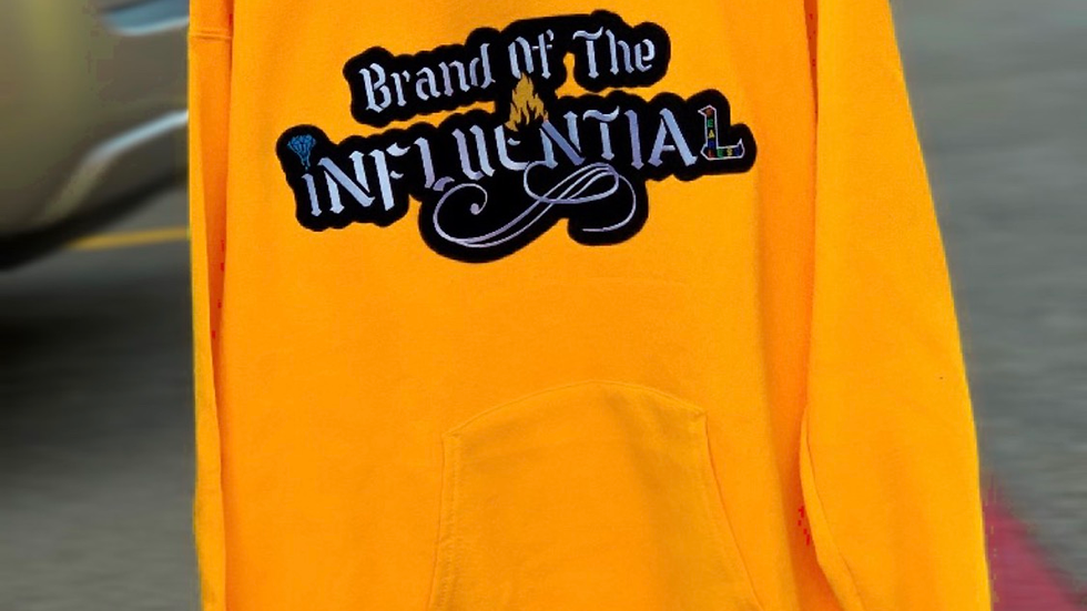 Fear Brand of the Influential Embroidery  Hoodie