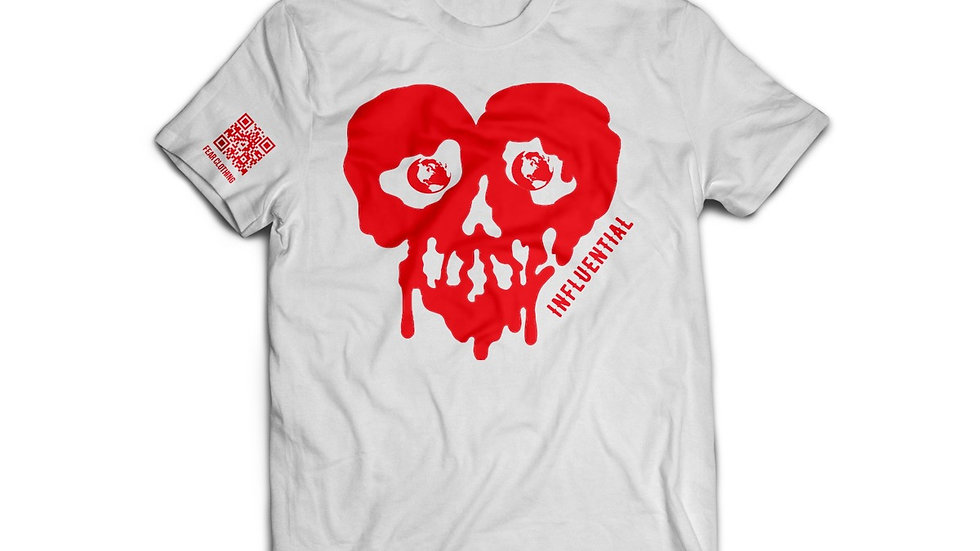 Unisex White/Red Influential Tee