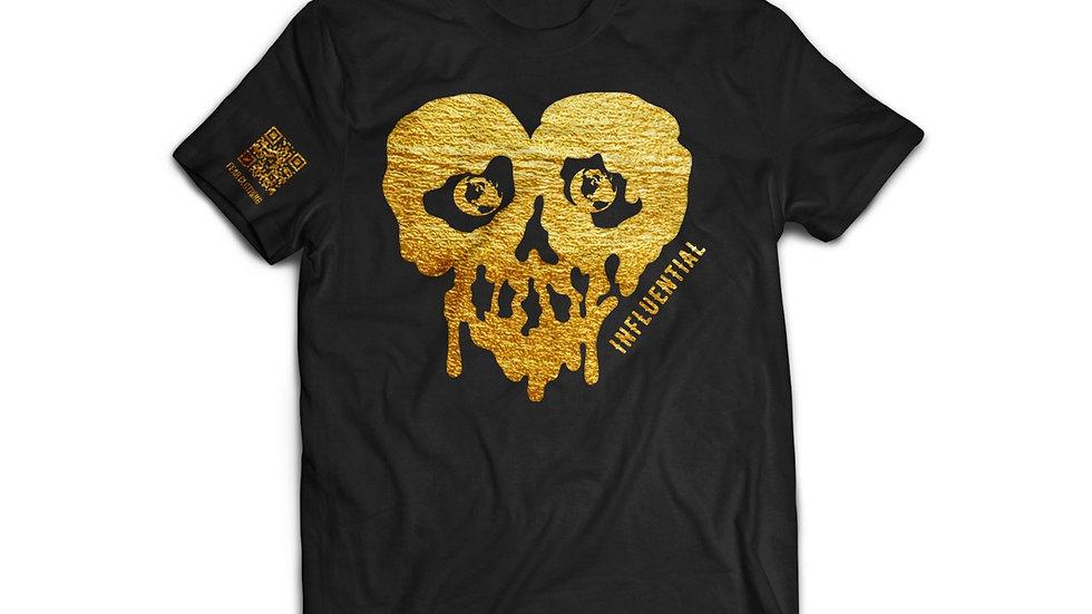 Unisex Black/Metallic Gold Influential tee