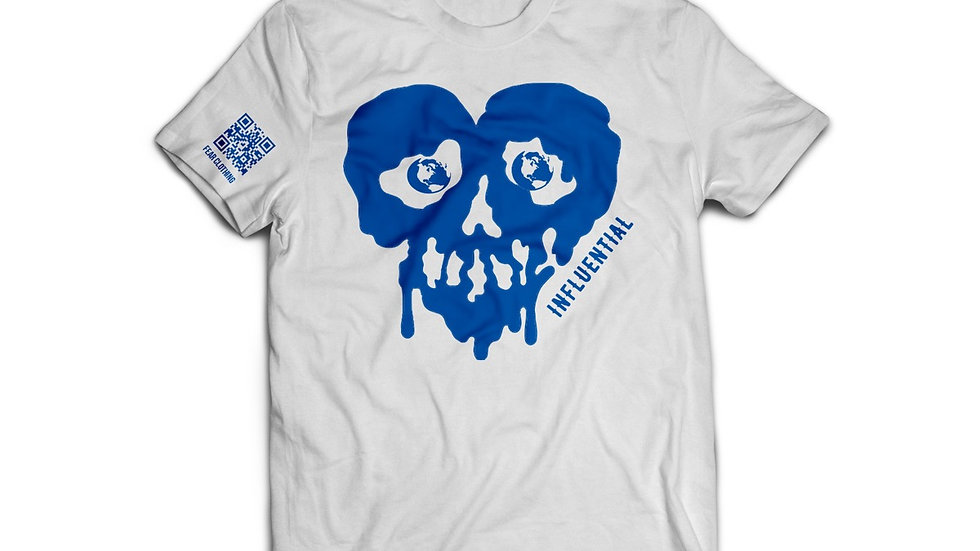 Unisex White/Royal Blue Influential Tee