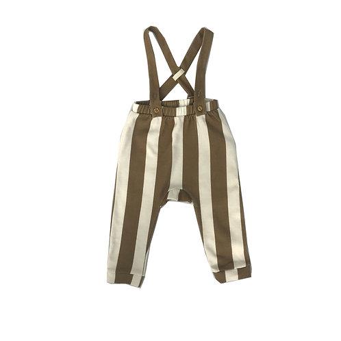 Caramel Wide Stripe Dungaree Legging