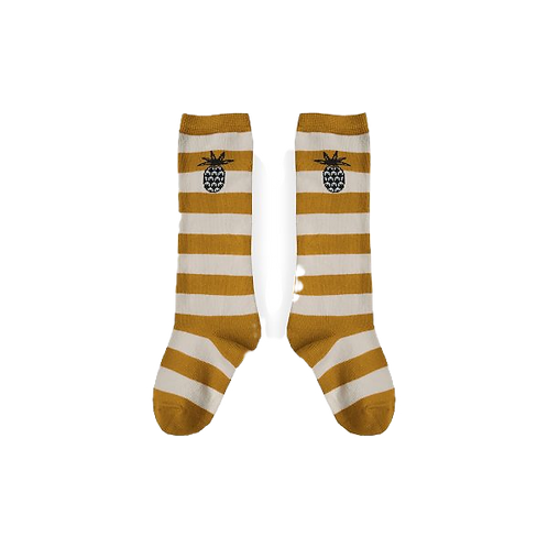 Yellow Striped Pineapple Socks