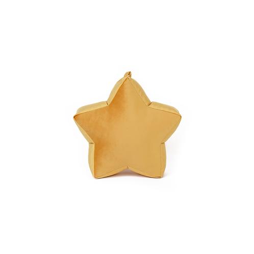 Small Yellow Velvet Star Cushion