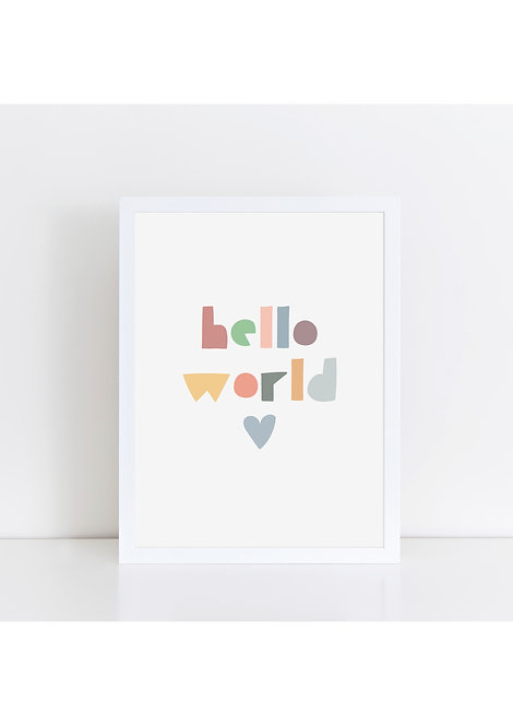 Hello World Muted Print