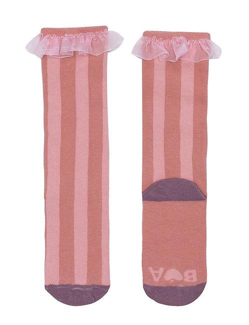 Frill Top Knee High Socks