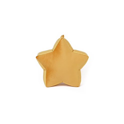 Small Petrol Velvet Star Cushion
