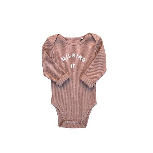'Milking It' ® Organic Clay Rib Bodysuit