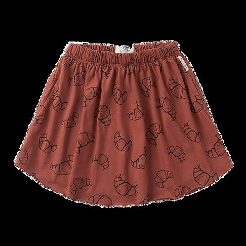 Croissant Print Skirt