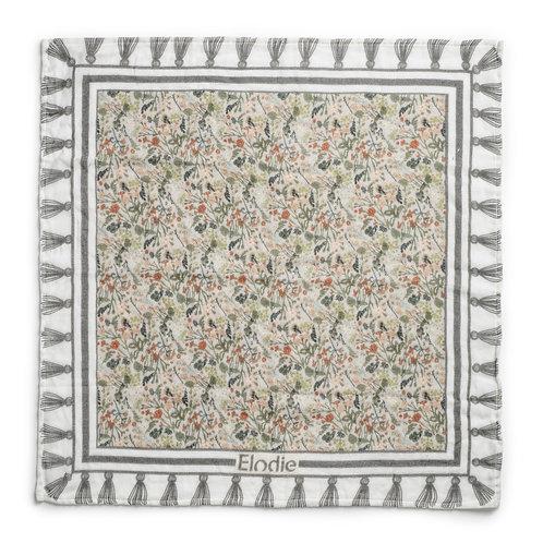 Vintage Flower Bamboo Muslin Blanket