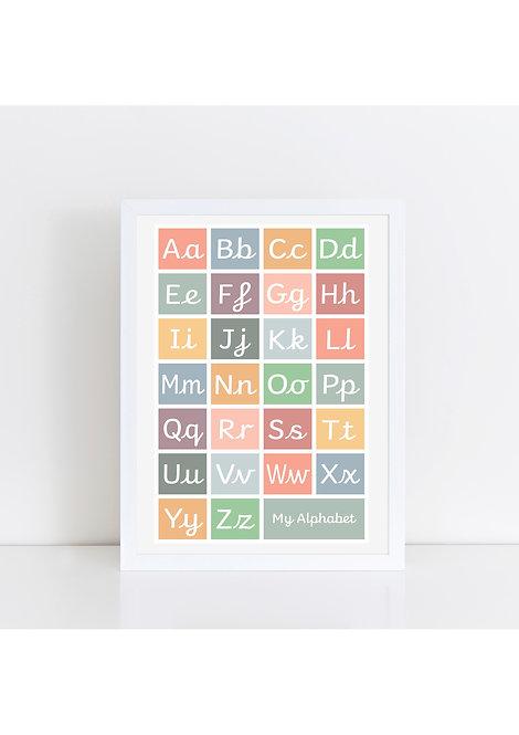 Handwriting Alphabet Print