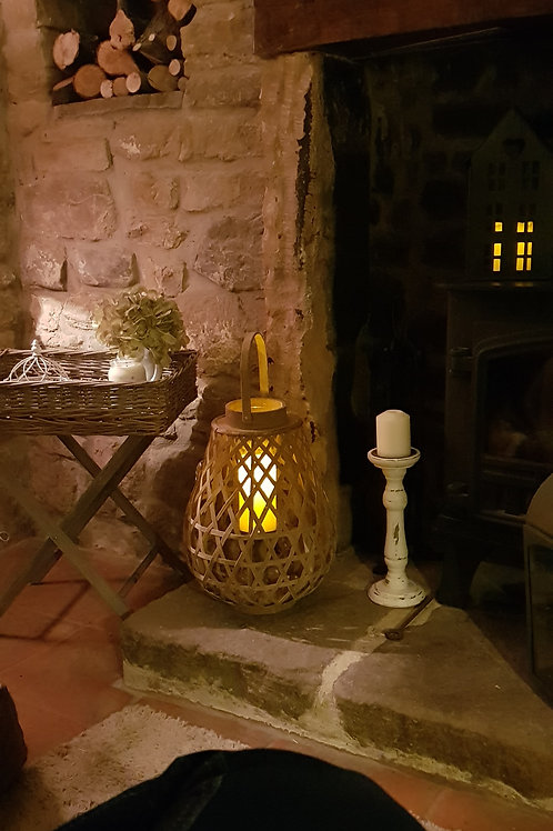 Braided Lantern with glass holder
