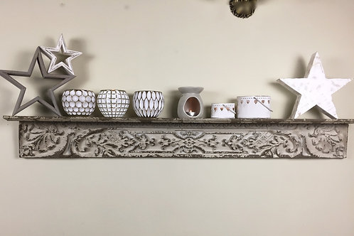 Shelf with carving antique finish