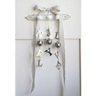 Long LOVE, JOY OR NOEL Hanging  Decoration with Bell