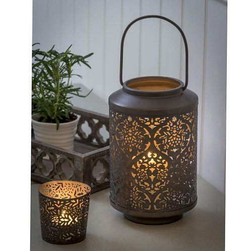 Metal Pierced Lantern two sizes available from