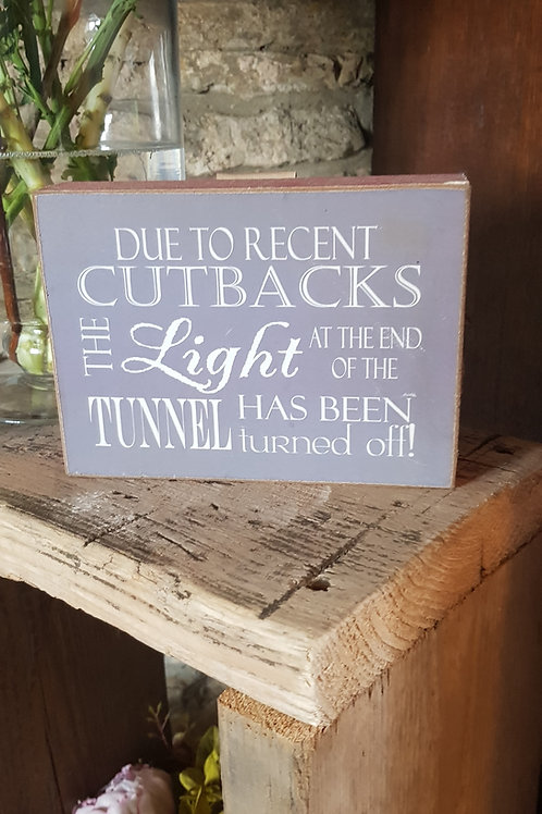 Cutbacks Wooden Sign