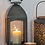 Thumbnail: Grey Metal Dome Lantern available in three sizes from