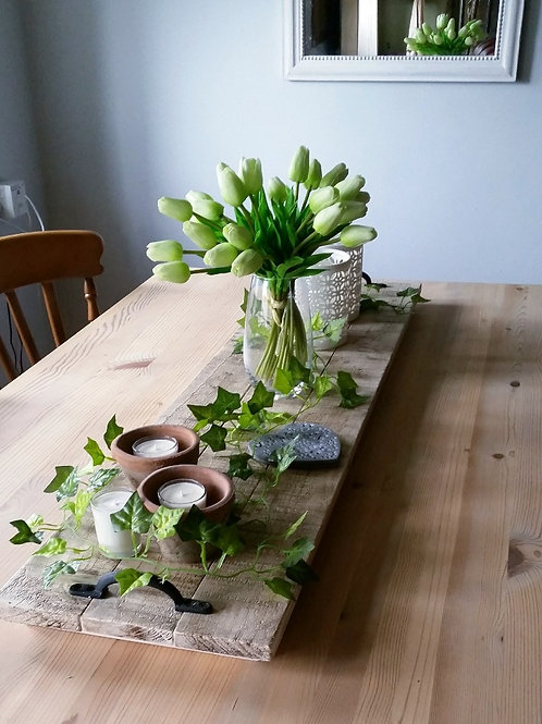 Hand Made Wooden Table Runner/Tray Centerpiece from