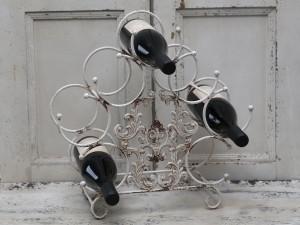 Wine Rack For 7 Bottles Antique White