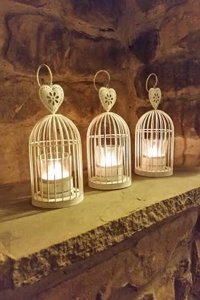 Antique birdcage tea light holder