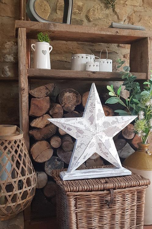 White Wooden Standing Star