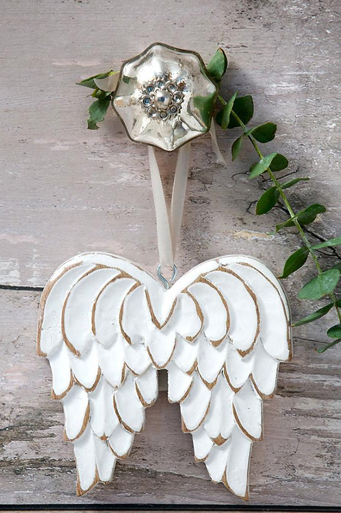 Angel Wings in a Distressed Wooden finish