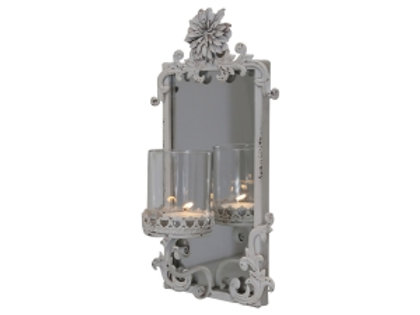 Candle holder with Mirror for Wall