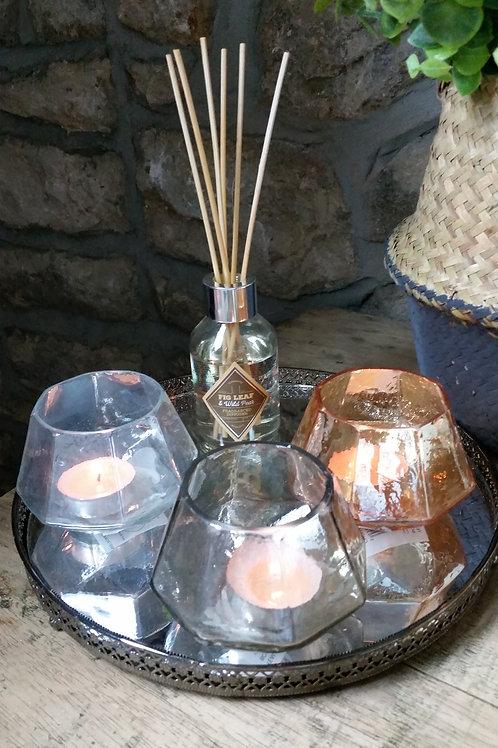 Set of 3 Glass Tealight Holders