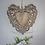 Thumbnail: Large Gold Grey Decorative Heart