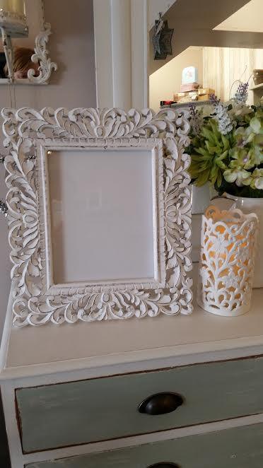Ornate White Photo Frame 8 x 10   dallieschicinteriors.com home