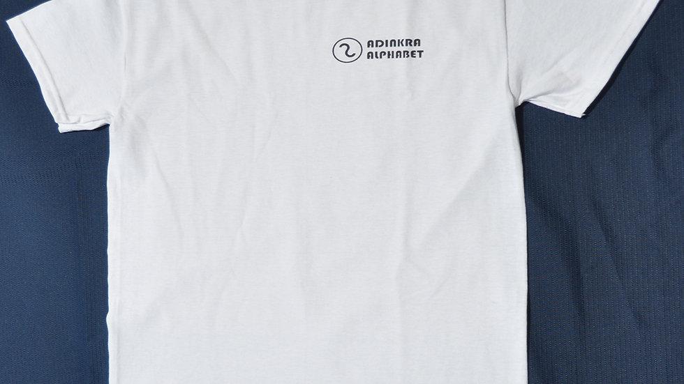 Adinkra Alphabet T Shirt White