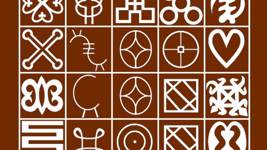 Adinkra Alphabet, Akan,Ewe, Ga and Dagbani