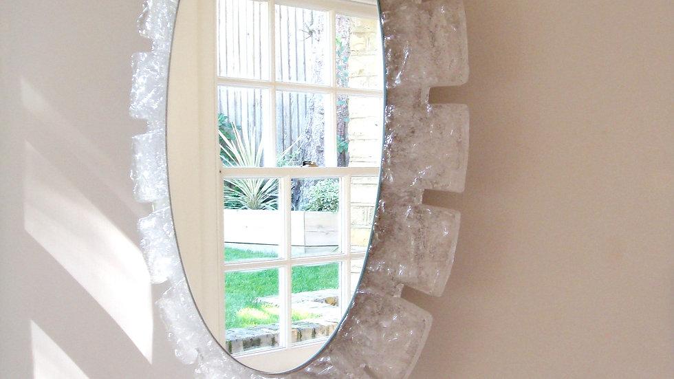 Vintage Resin Illuminated Mirror, 1970s