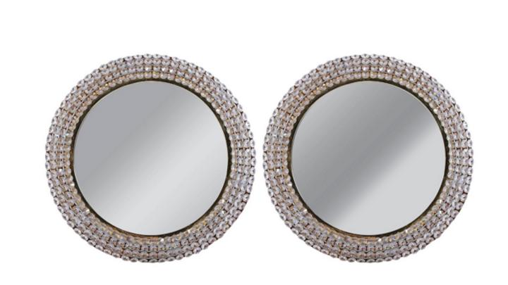 PAIR Vintage Crystal Backlit Mirror