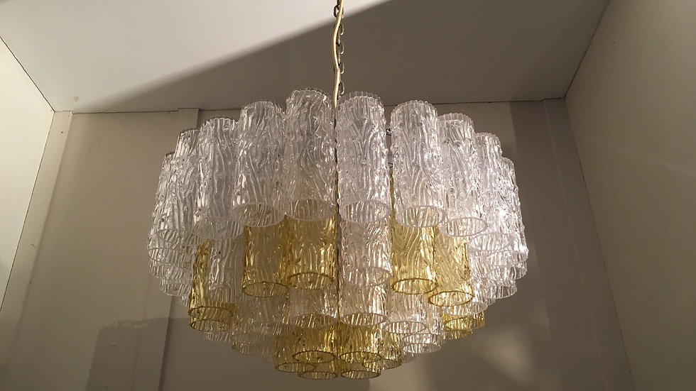 Venini Murano Glass Chandelier, 1970s