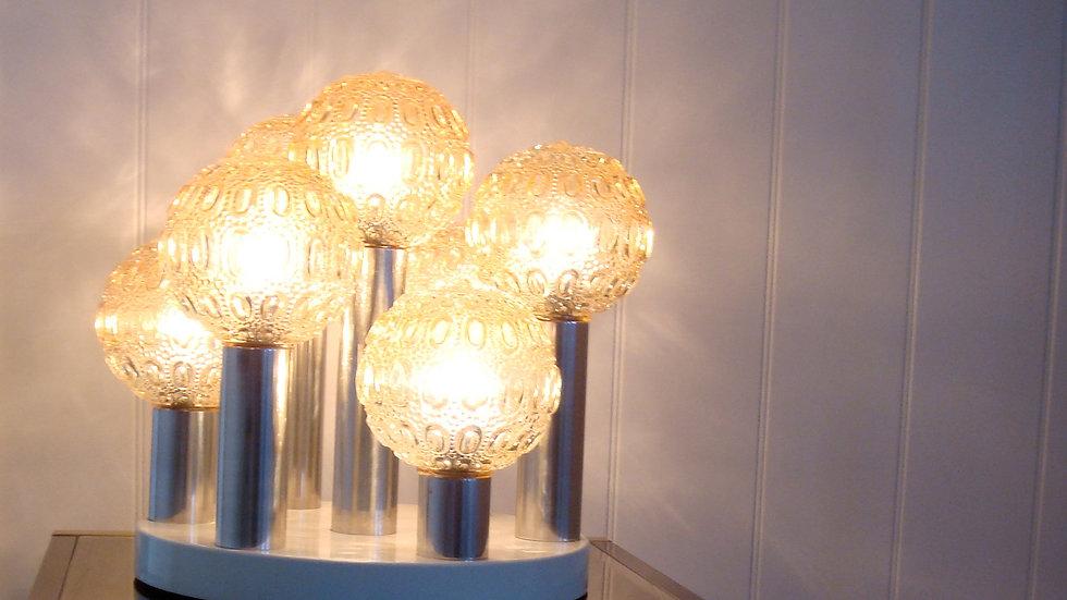 Large glass lamp, Sciolari era