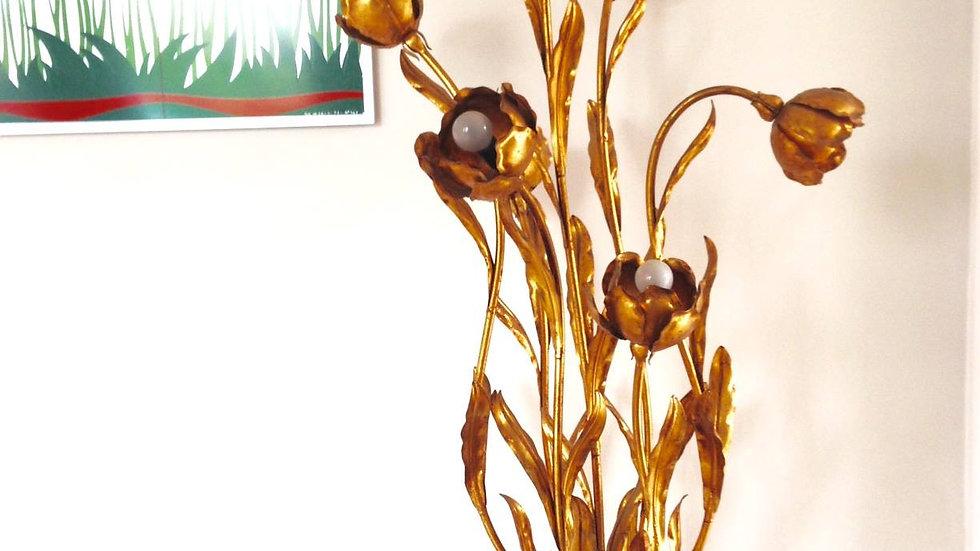 1970s Palm Flower Lamp, Hans Kogl
