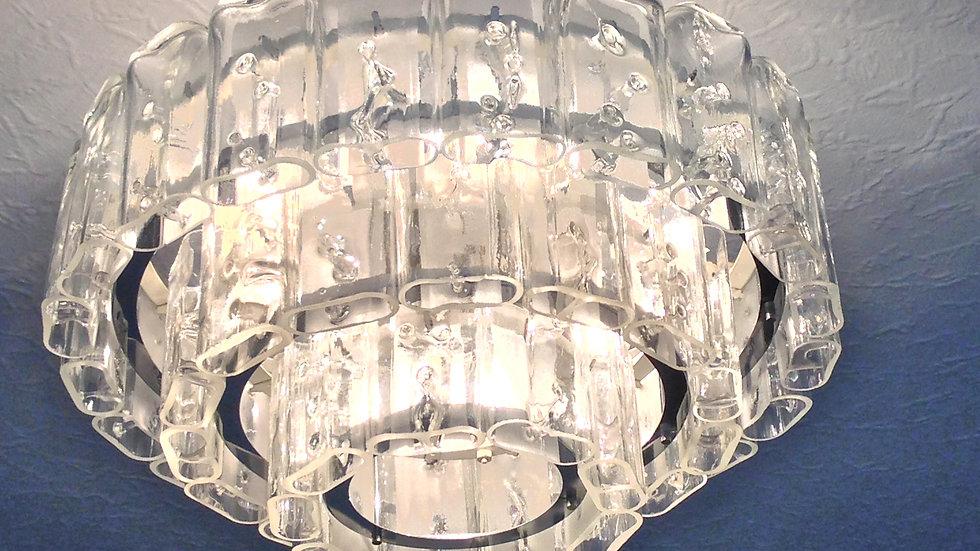 Vintage Murano Glass Chandelier, Doria Glass