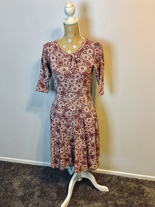 Effie's Heart Floral Flare Dress (Small)