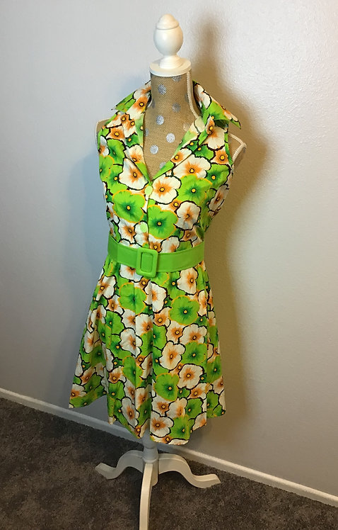 VooDoo Vixen Green Floral Dress (Small)