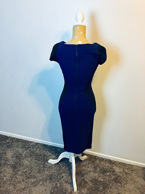 Closet London Blue Bodycon Dress (Size 8UK)