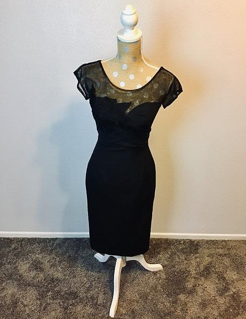 Unique Vintage Black Dress (SMALL)