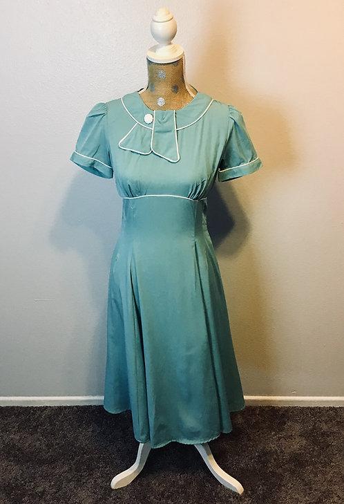 Hell Bunny Blue Dress (MED)
